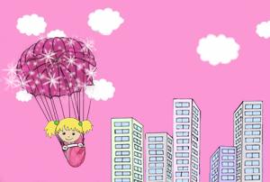 parachute-à-paillettes